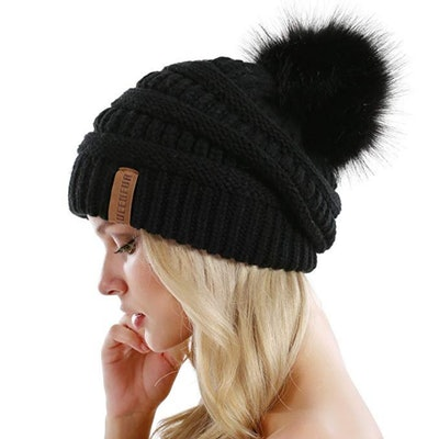 QUEENFUR Slouchy Knitted Hat