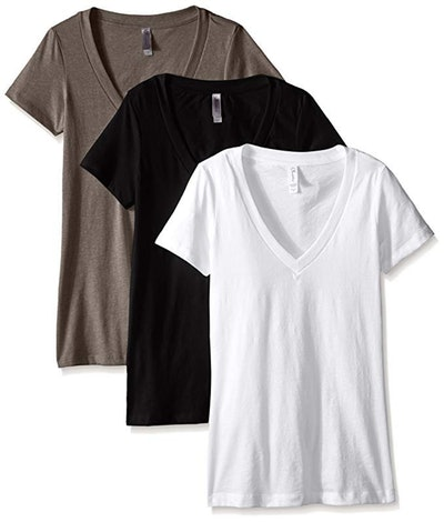 Clementine Apparel Deep V-Neck Tee (3-Pack)
