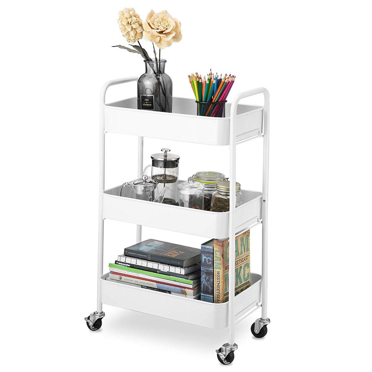 CAXXA 3-Tier Rolling Storage Cart