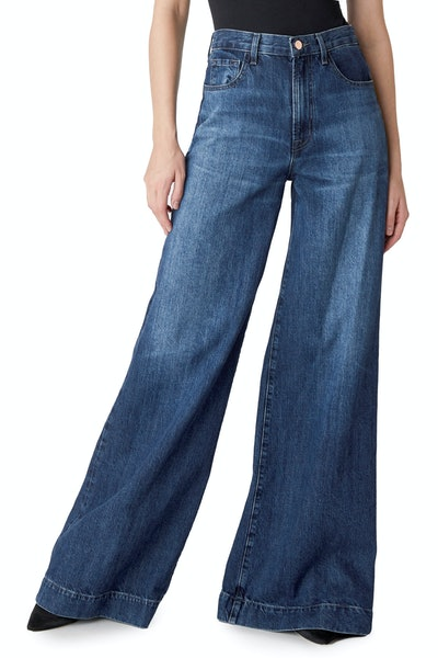 Thelma High-Rise Super Wide Leg In Saltwater