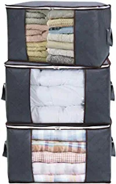 Lifewit Large Capacity Clothes Storage Bag (3 Pack)