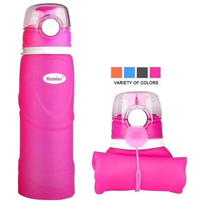 Kemier Collapsible Silicone Water Bottles-750M