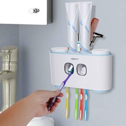 Wekity Toothbrush Holder and Automatic Dispenser