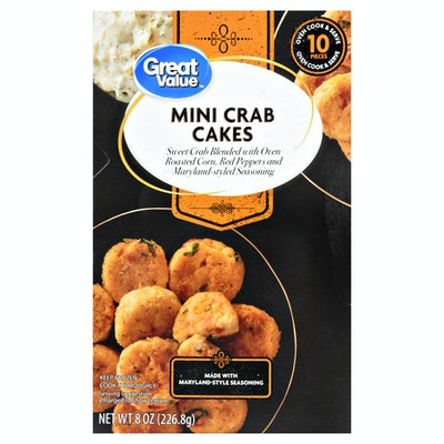 Great Value Frozen Mini Crab Cakes