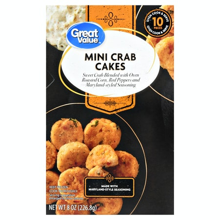 Great Value Frozen Mini Crab Cakes