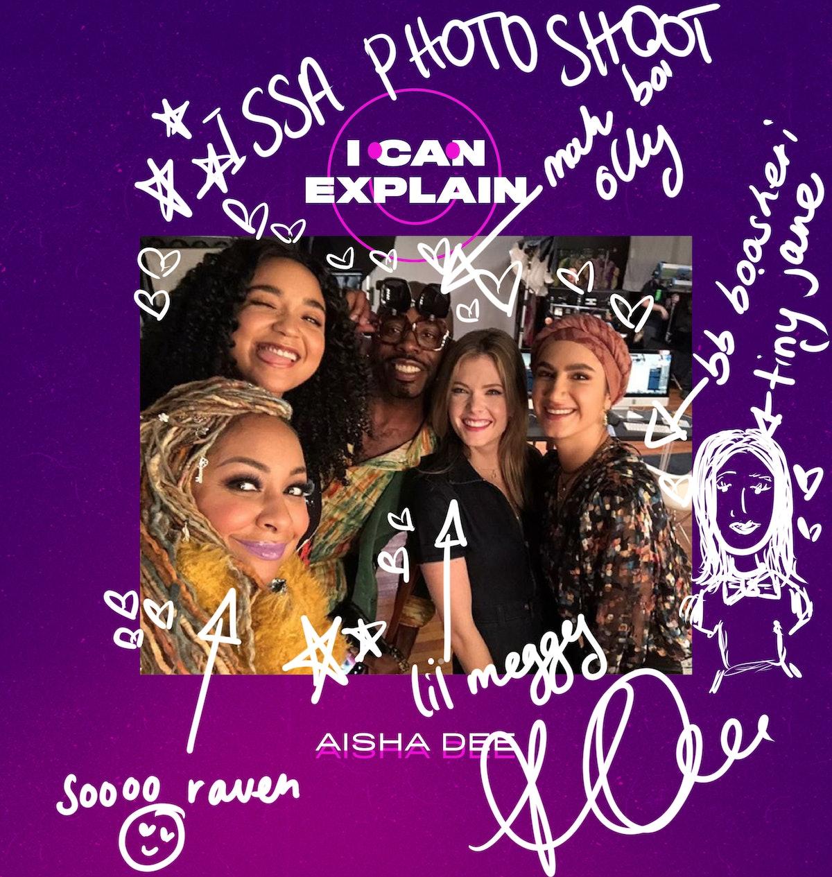 Photo of Aisha Dee, Raven-Symoné, and 'The Bold Type' cast
