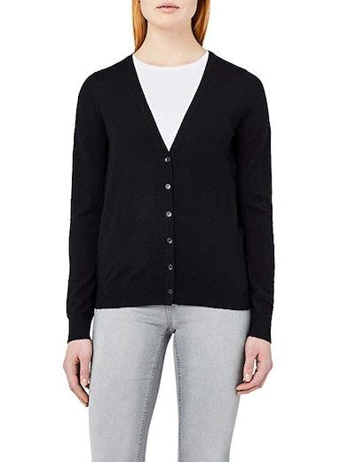 Meraki Women's Fine Merino Wool V-Neck Cardigan Sweater