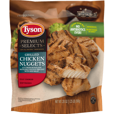 Tyson® Premium Select Fully Cooked Grilled Chicken Breast Nuggets