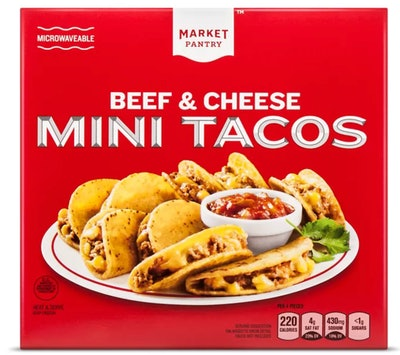 Market Pantry Frozen Beef & Cheese Mini Tacos