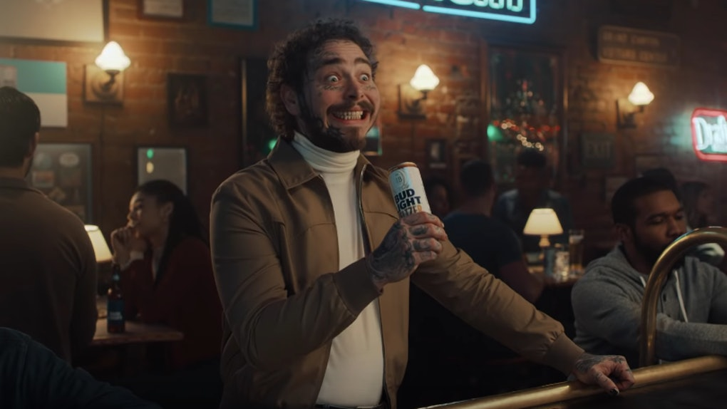 Post Malone's Bud Light Super Bowl commercial