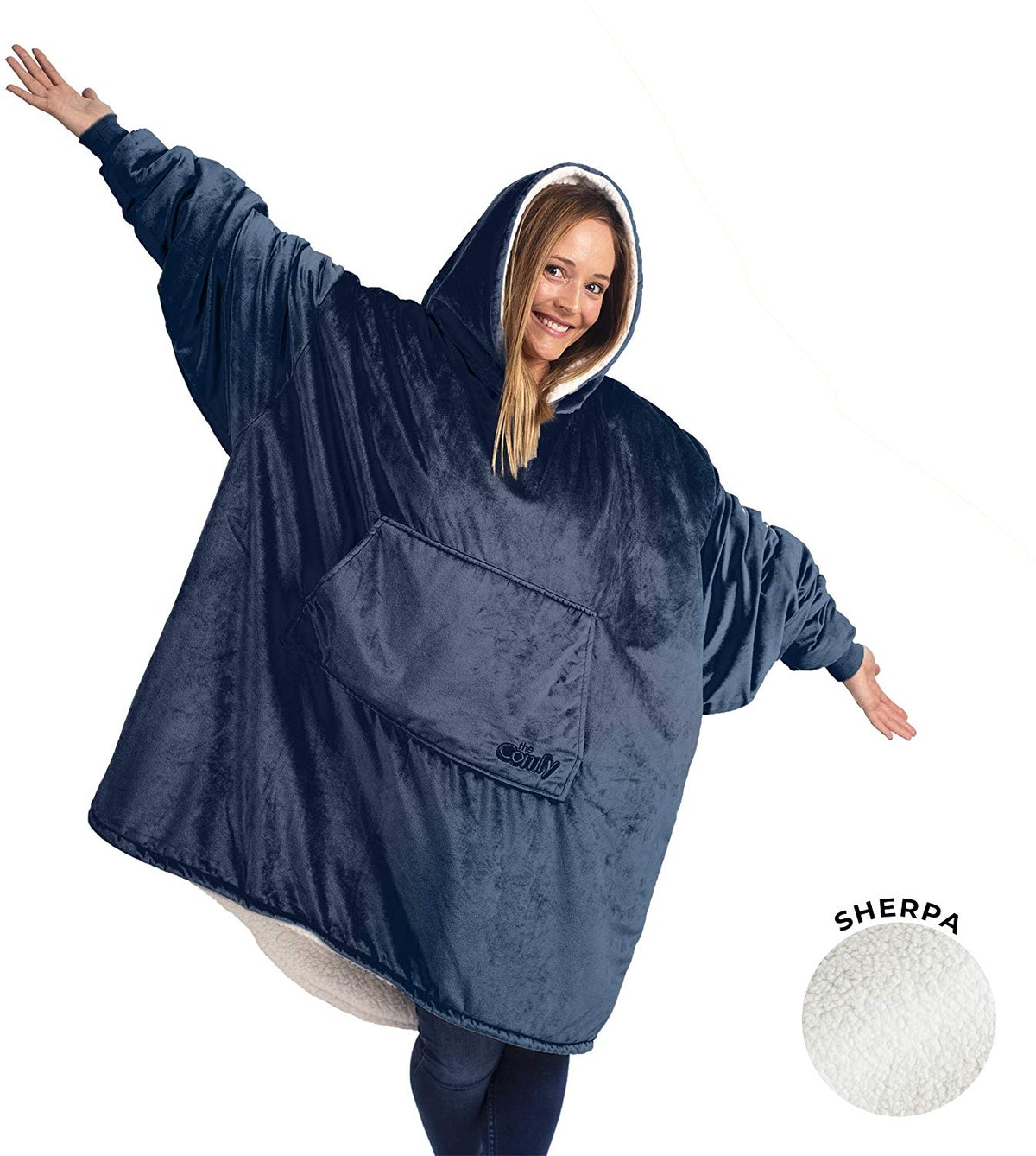 THE COMFY Oversized Wearable Sherpa Blanket
