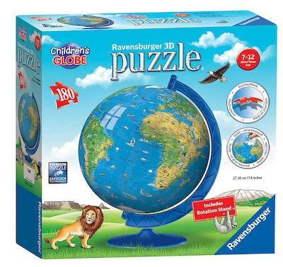 Ravensburger Children's World Globe 180 Piece 3D Jigsaw Puzzl
