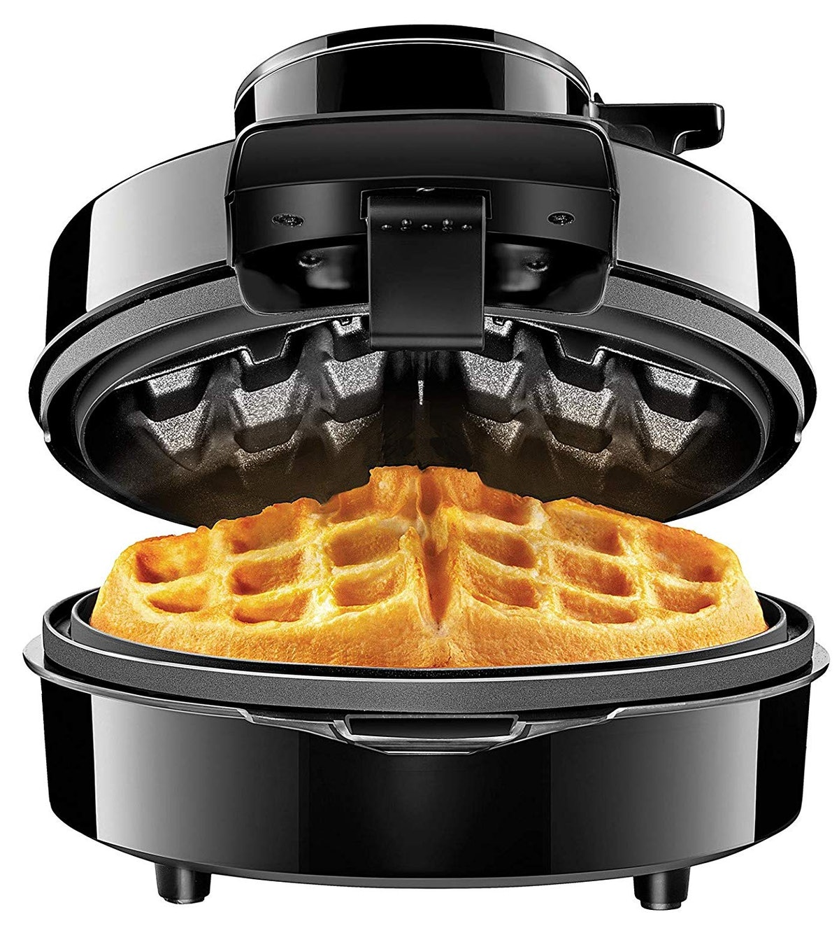 Round Iron for Mess-Free-Waffles