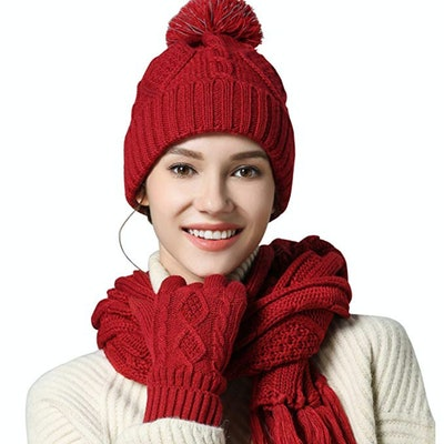 AGOOL Hat, Scarf, And Gloves Set