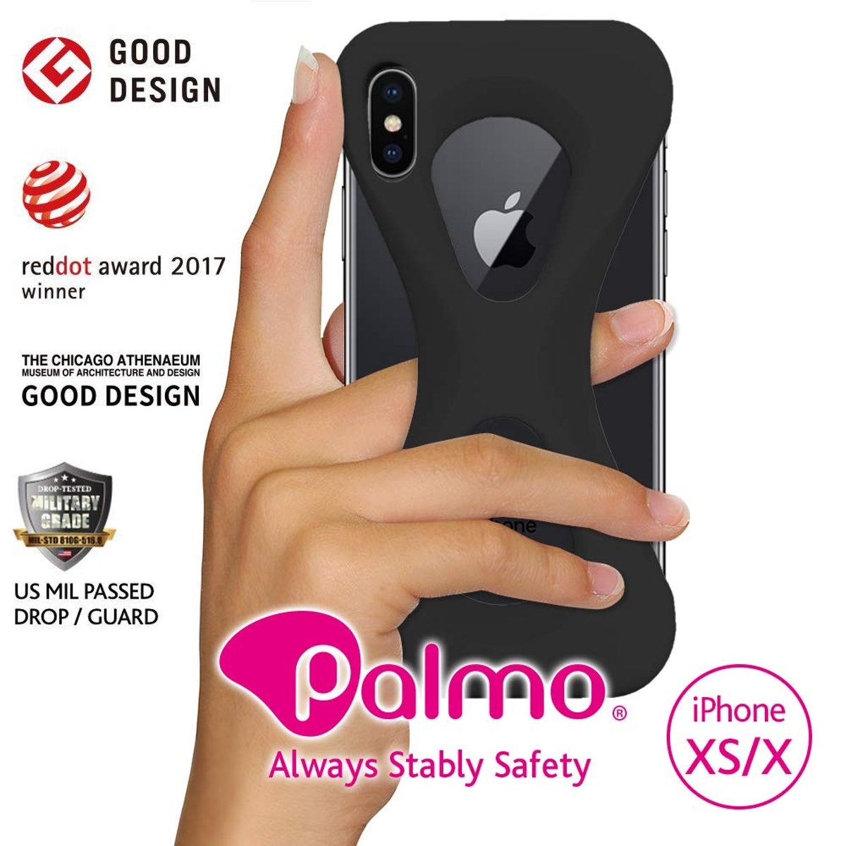 Shockproof Qi Wireless Charge Compatible Protective Case Black