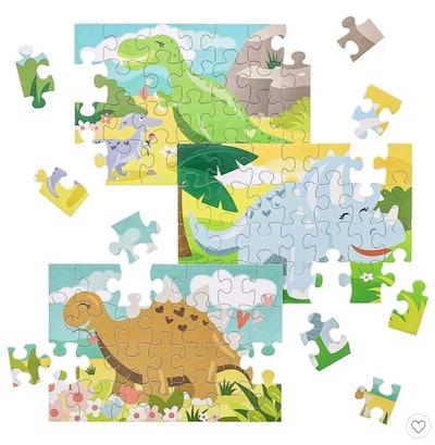 Juvale Kids Dinosaur Jigsaw Puzzles Bulk Pack