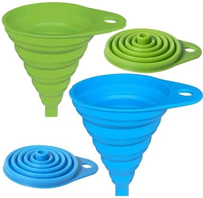 AxeSickle Silicone Collapsible Funnel (2-Pack)