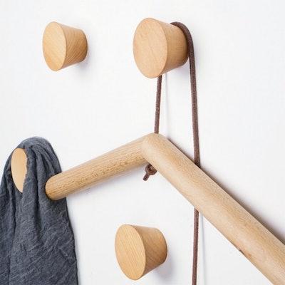Natural Wooden Coat Hooks