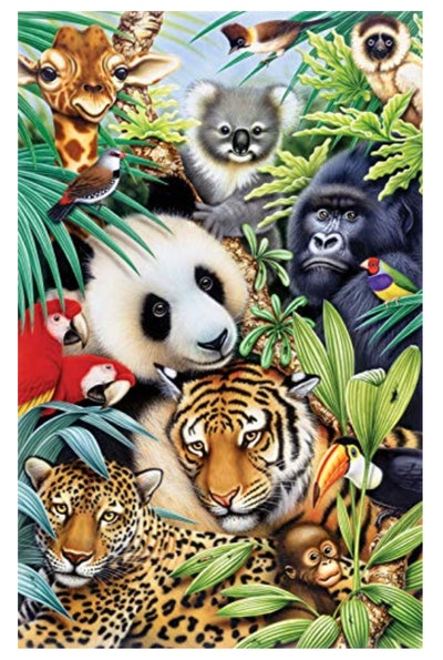 SUNSOUT INC Animal Magic 100 pc Jigsaw Puzzle