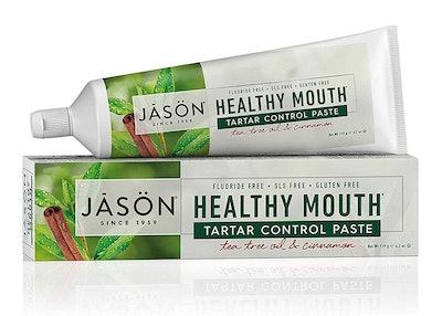 JASON Healthy Mouth Tartar Control Flouride-Free Toothpaste, Tee Tree Oil & Cinnamon