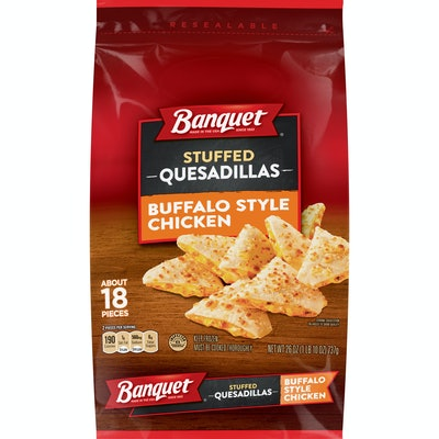 Banquet Buffalo Style Chicken Stuffed Quesadillas Frozen Snack