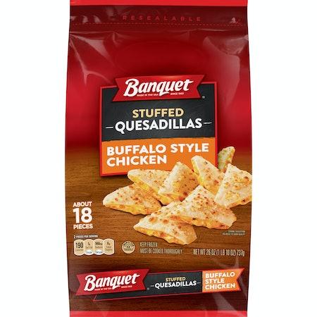 Banquet Buffalo Style Chicken Stuffed Quesadillas Frozen Snack