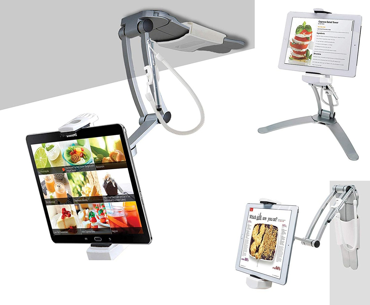 CTA Digital 2-in-1 Kitchen Tablet Stand