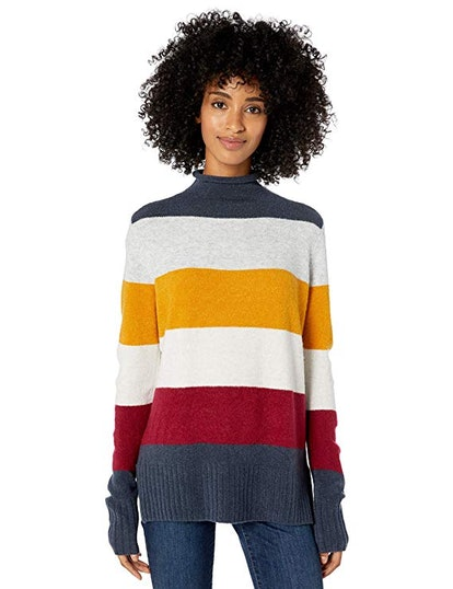 Goodthreads Women's Mid-Gauge Stretch Funnel Neck Sweater