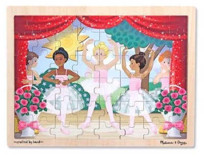 Melissa & Doug Ballet Recital Wooden Jigsaw Puzzle With Storage Tray