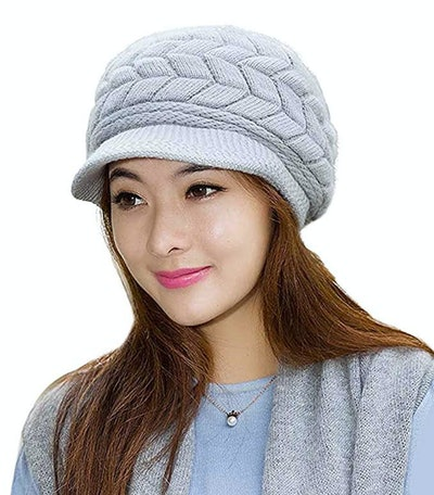 Loritta Winter Beanie With Visor