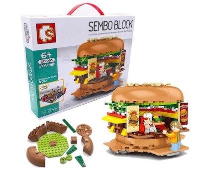 YONGTENG City Building Set with Burger Shop Puzzle