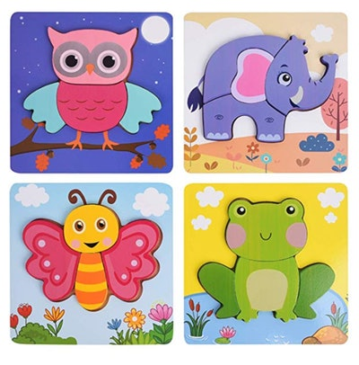 XREXS Wooden Jigsaw Puzzles for Toddlers