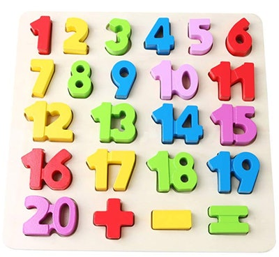 Babe Rock Wooden Number Puzzles for Toddlers