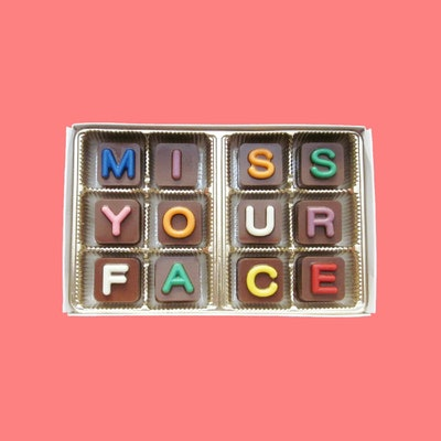 I Miss Your Face Chocolate Message