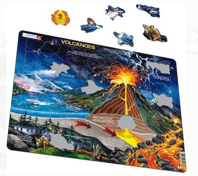 Larsen Puzzles Volcanoes Educational Jigsaw Puzzle