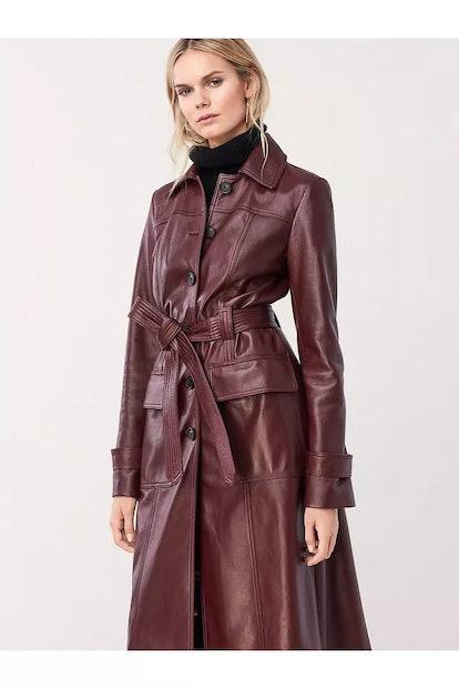 Helga Leather Trench Coat