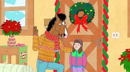 BoJack (voiced by Will Arnett) and Sarah Lynn (voiced by Kristen Schaal) in BoJack Horseman