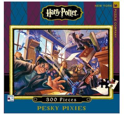 New York Puzzle Company Harry Potter Pesky Pixies 300 Piece Jigsaw Puzzle