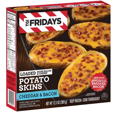 T.G.I. Friday's Loaded Cheddar & Bacon Frozen Potato Skins