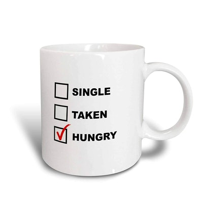 Single Taken Hungry Ceramic Mug, 15 oz.