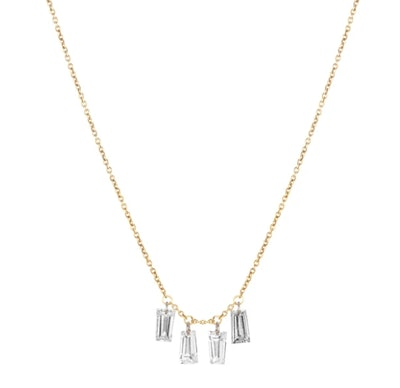 Baguette Cluster Necklace