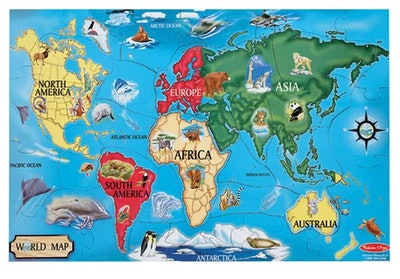 Melissa & Doug World Map Jumbo Floor Puzzle