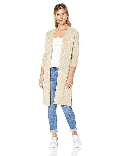Amazon Essentials Women's Lightweight Longer Length Cardigan Sweater