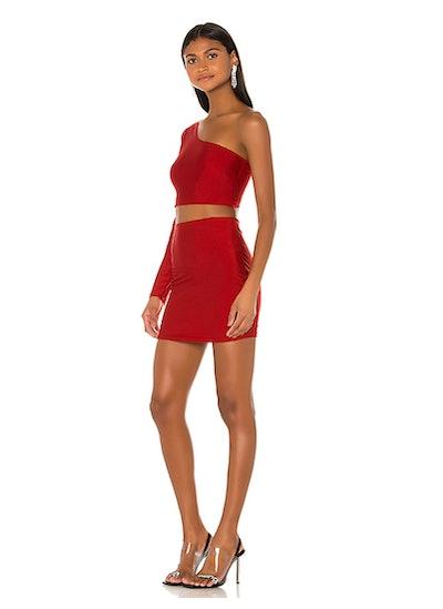 Reva One Shoulder Skirt Set