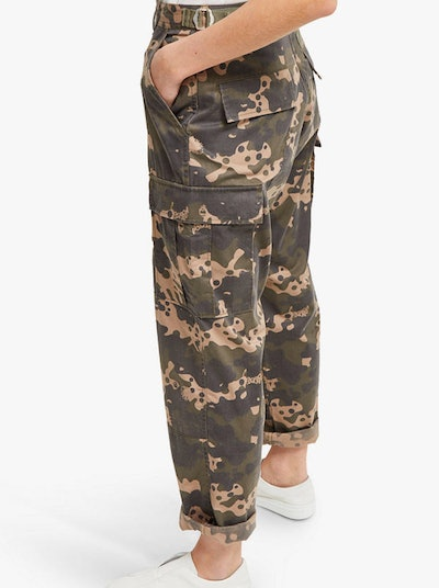 French Connection Carri Camo Cotton Trousers