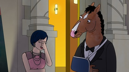 Diane (voiced by Alison Brie) and BoJack (voiced by Will Arnett) in BoJack Horseman