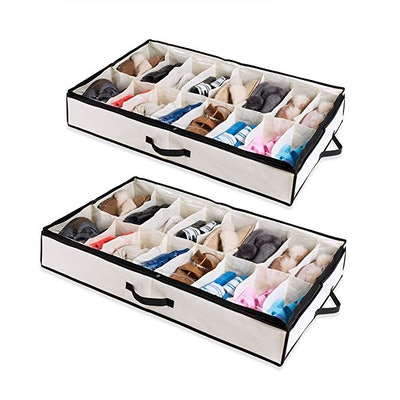 Woffit Under The Bed Shoe Organizer (2-Pack)