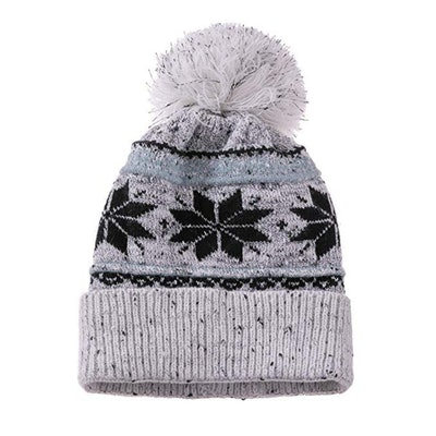 Dosoni Knit Snowflake Beanie