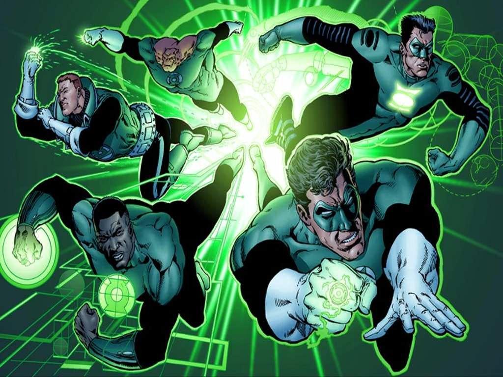 Green Lantern Cool Tie New Pattern Design