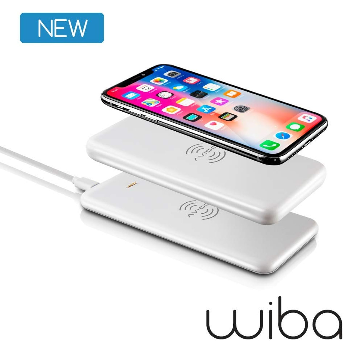 Wireless Portable Charger Bundle: 2-in-1 Power Bank